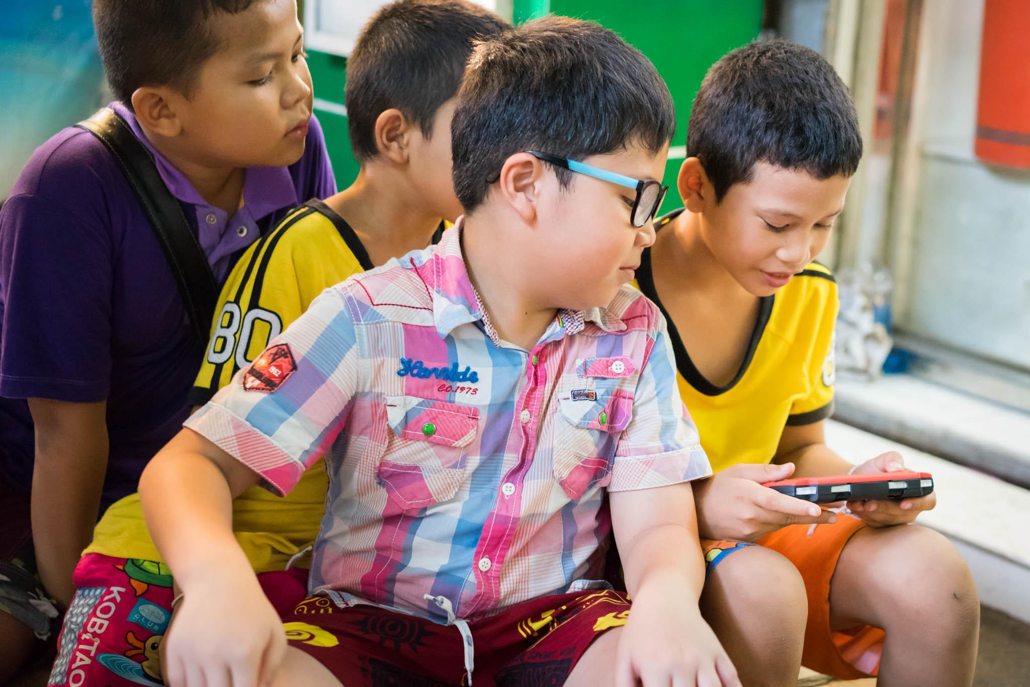 Gamers à Bangkok