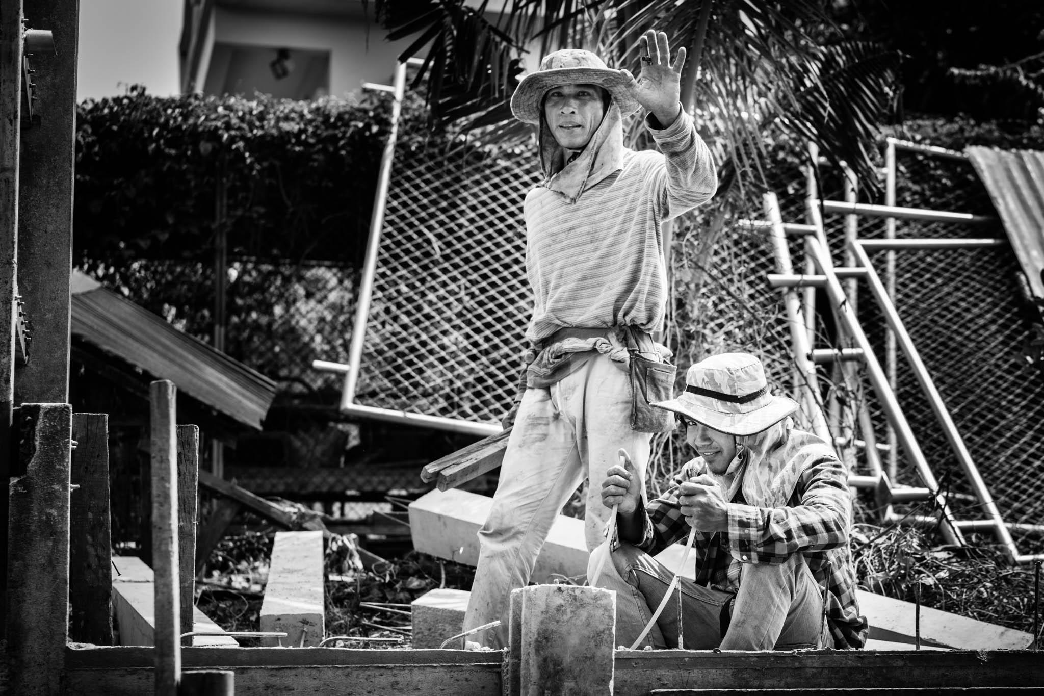 Ouvriers Klongs Bangkok