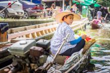 Vendeuse Klongs Bangkok