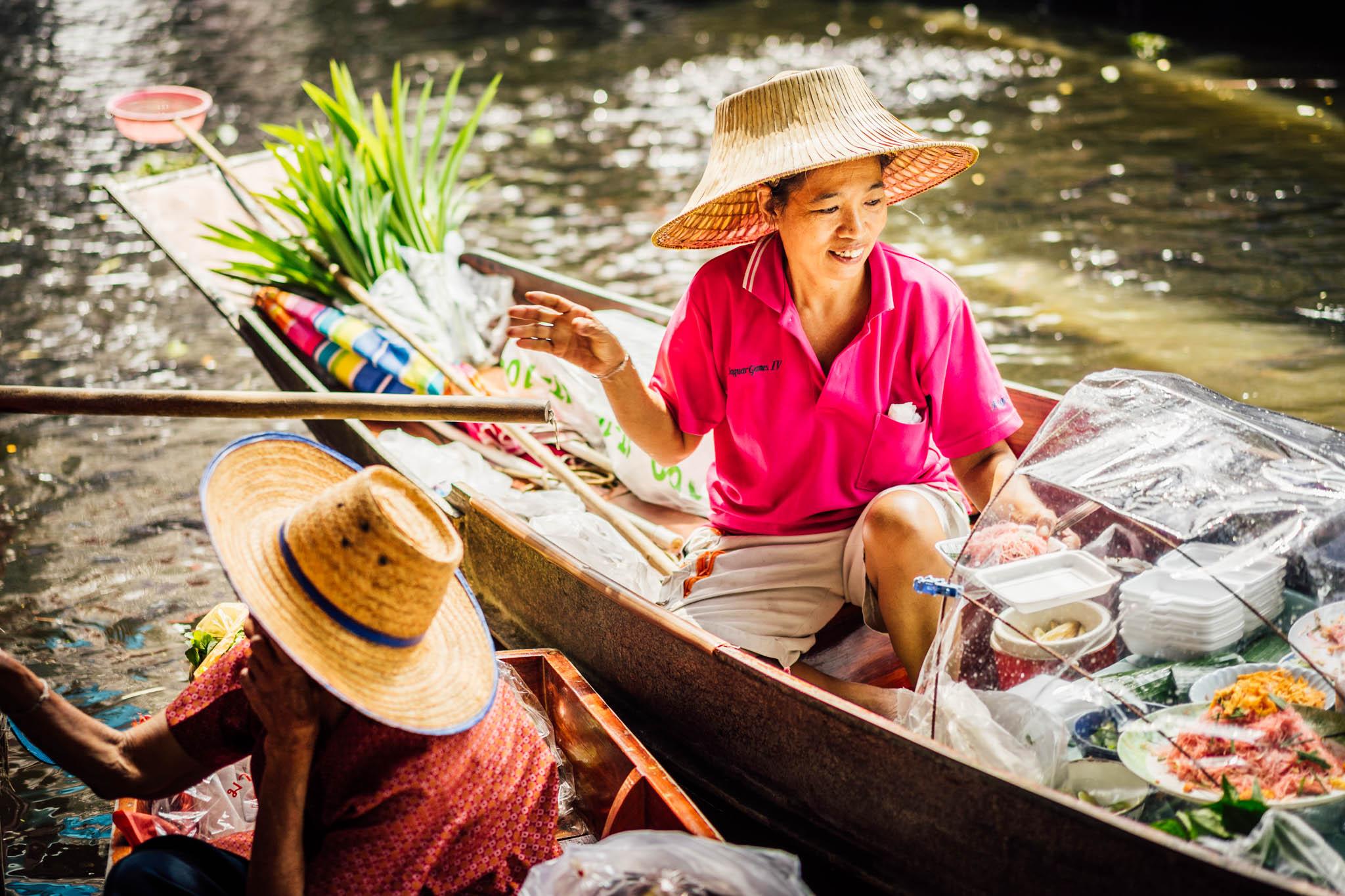 Marché flottant Klongs Bangkok