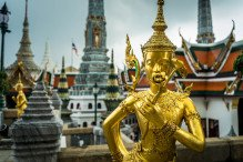 Wat Phrakaew temple et statue
