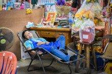 Dormeur marché Bangkok