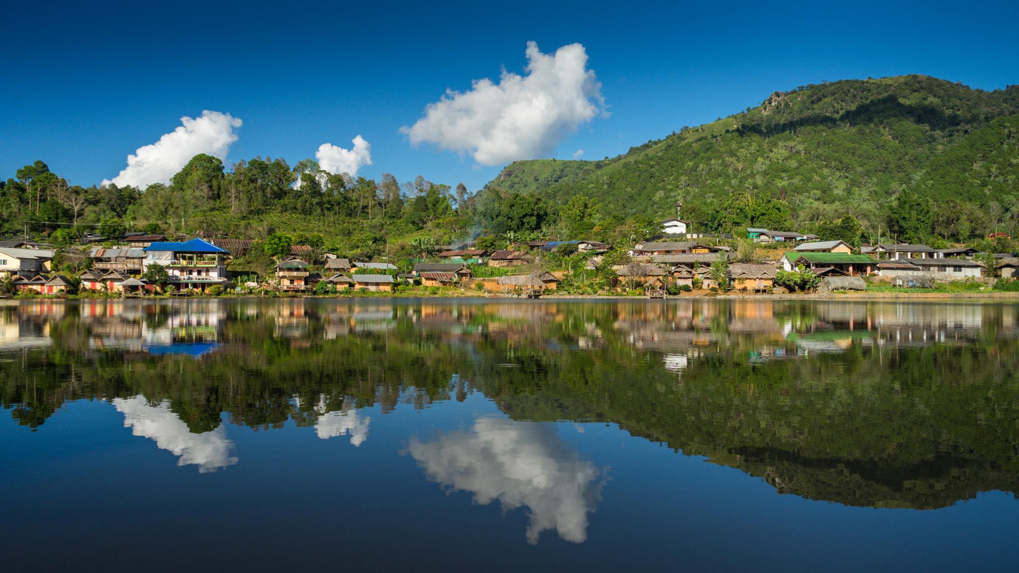 village chinois au nord de la Thaïlande