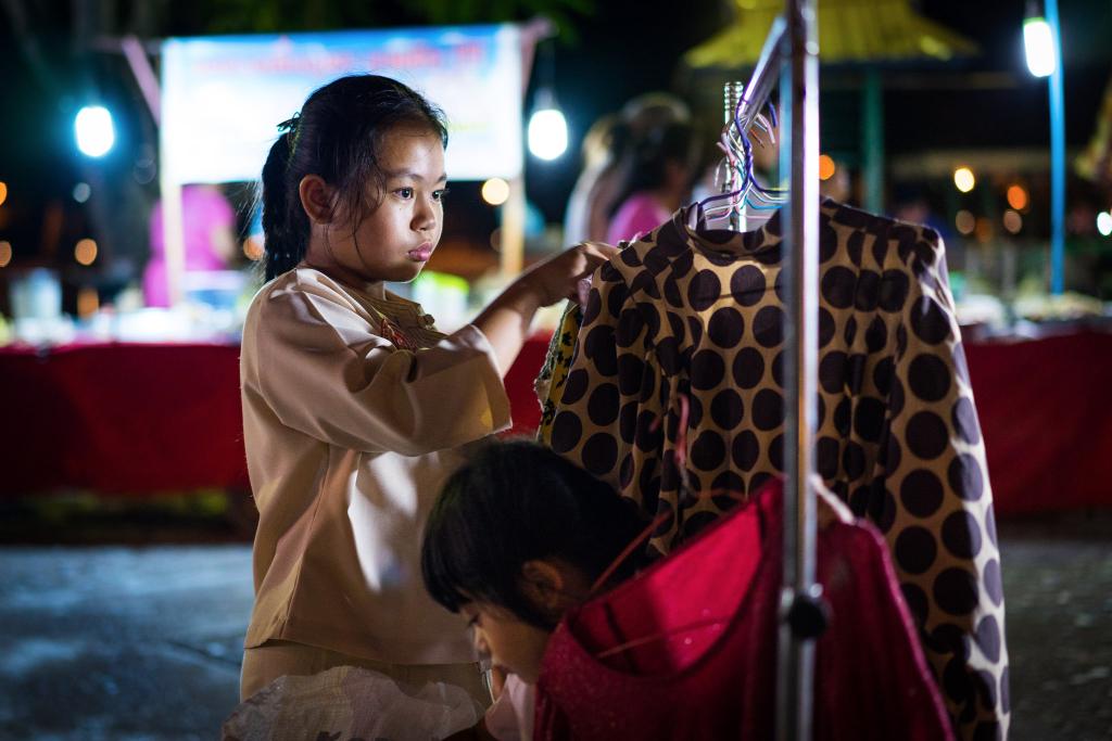 Enfants marché mae hong son