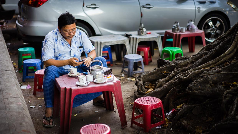 gargotte de rue à Yangon