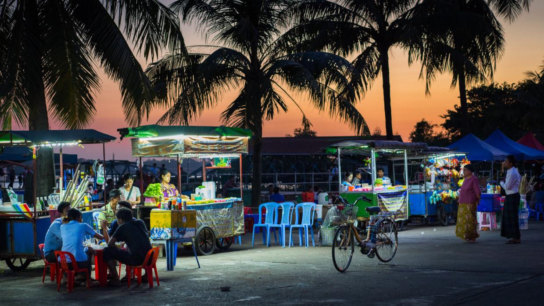 bord de l'Irrawaddy à Yangon
