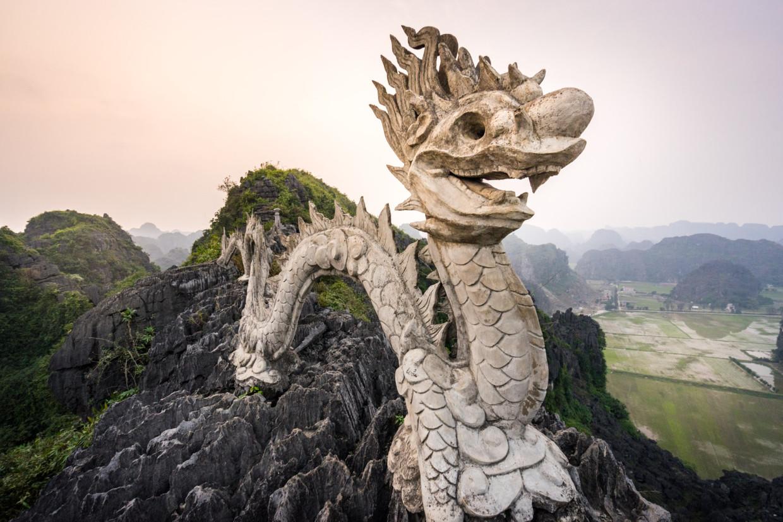 Point de vue à Tam Coc au Vietnam