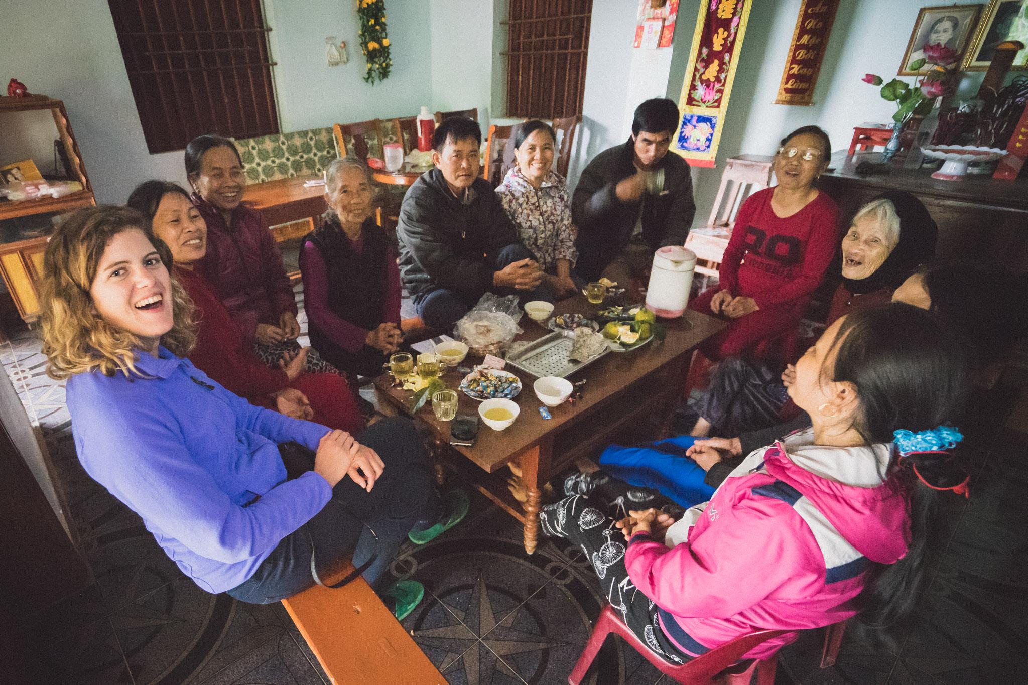 Thé chez madame Ly au Vietnam