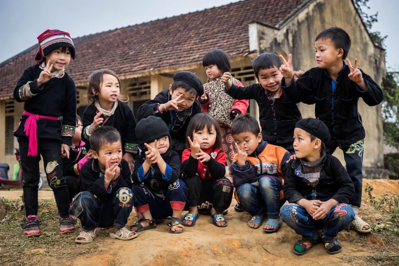 Enfants école Nord du Vietnam