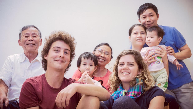Famille vietnamienne à Hanoi