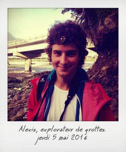 Alexis explorateur de grottes