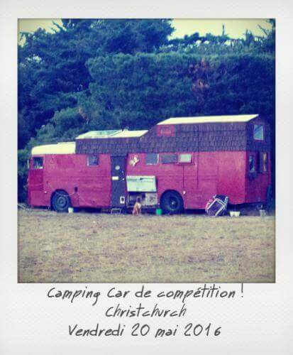 Camping car de compétition à Christchurch
