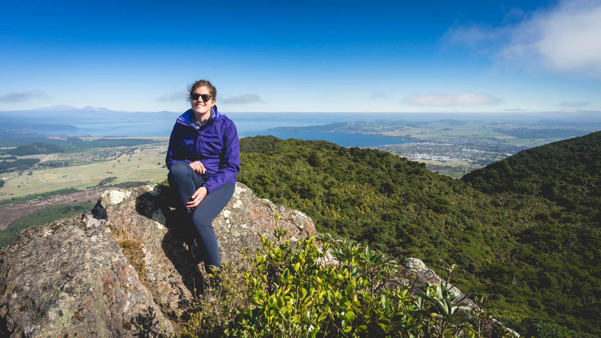Vue du mont Tauhara, Taupo