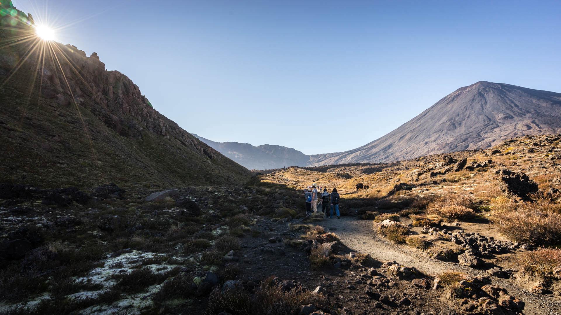 Premiers pas sur le Tongariro Alpine Crossing