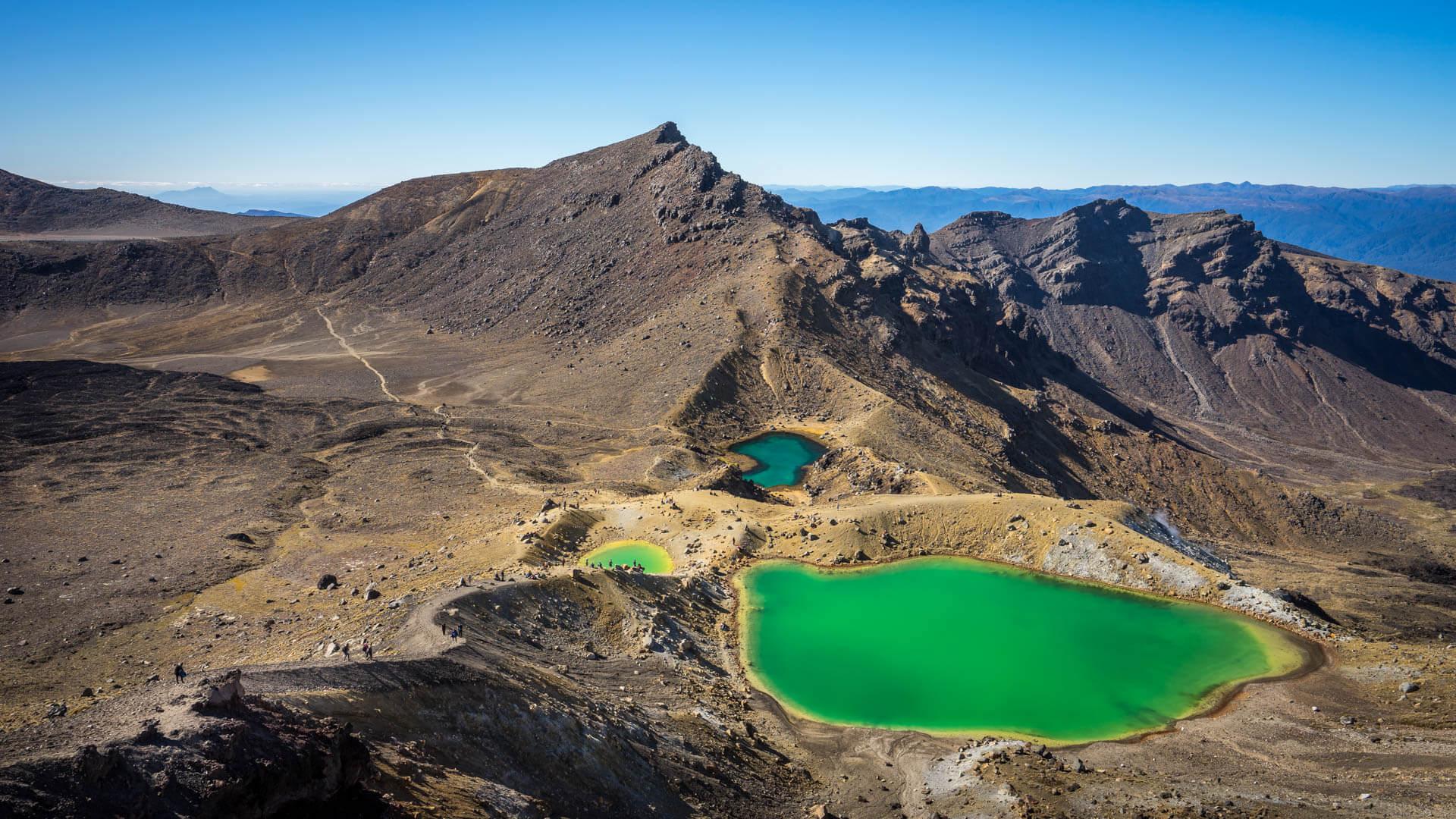 Lacs bleu turquoise du Tongariro Alpine Crossing