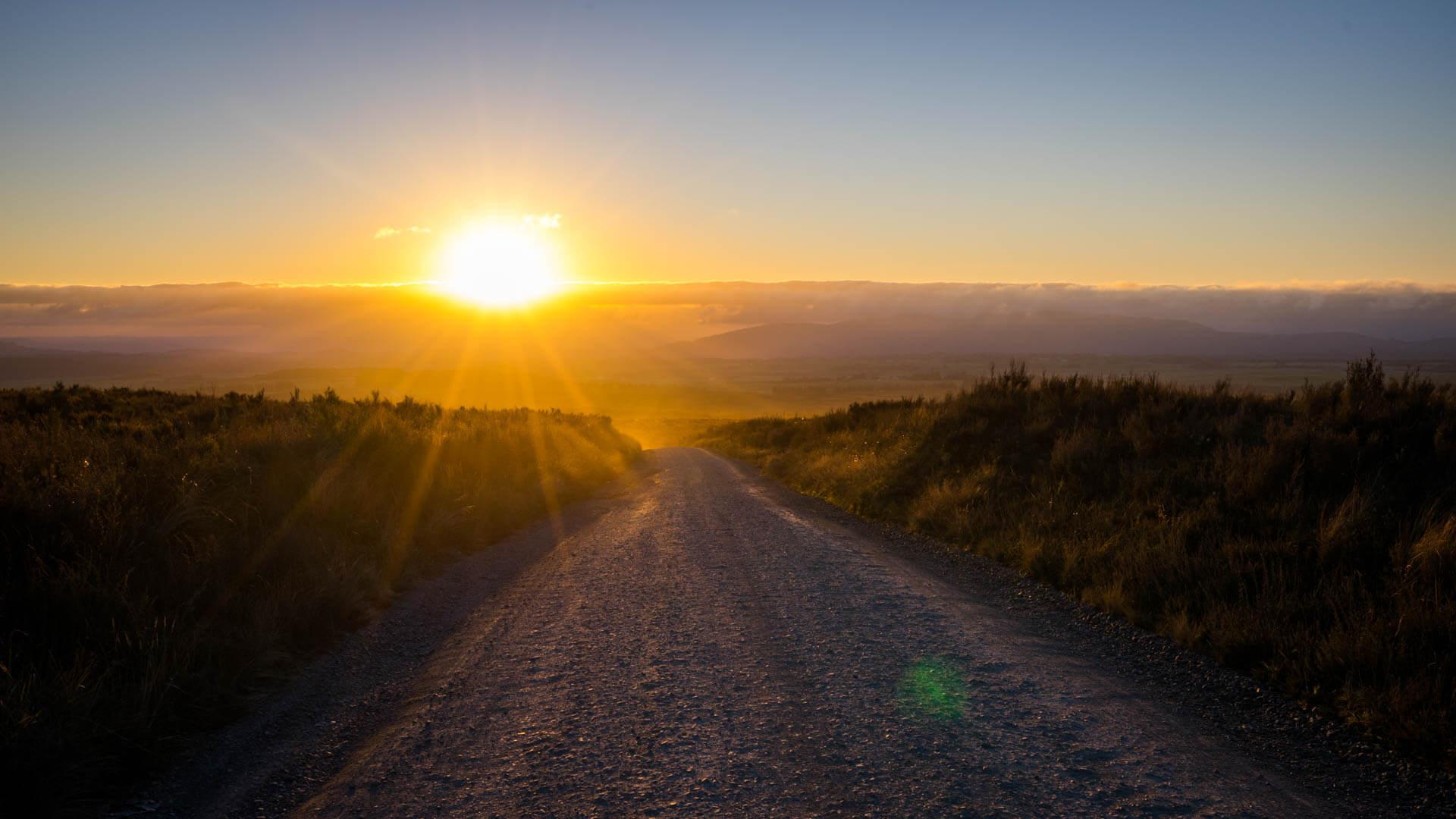Coucher de soleil depuis le Tongariro Alpine Crossing