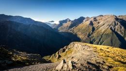 Vue sur la vallée, Scotts track, Arthur's Pass