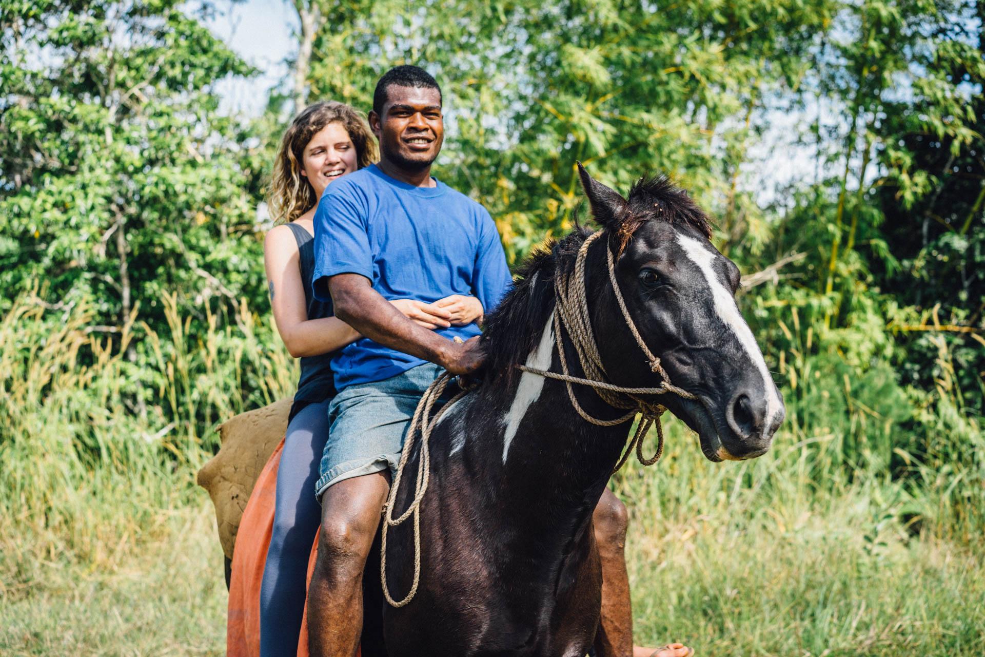 Bénédicte sur un cheval