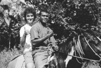 Alexis sur un cheval