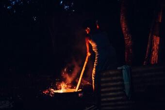 Préparation nocturne du lovo