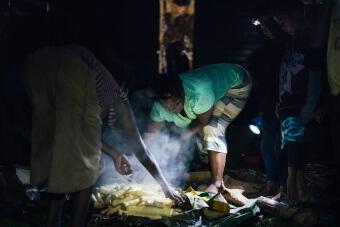 Fin de cuisson du lovo