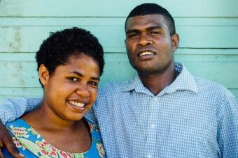 Portrait couple fidjien