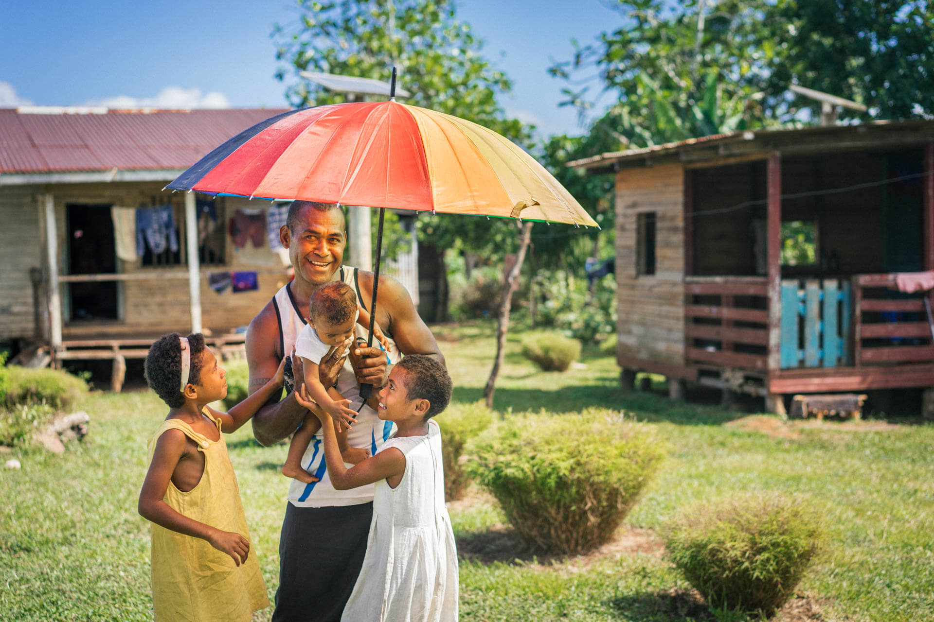 Parapluie multicolore fidjien