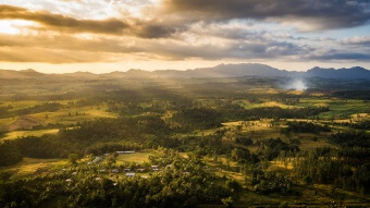 Nacereyaga village au coucher de soleil