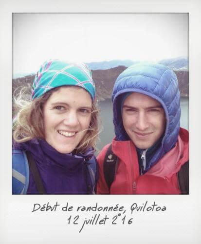 Début de randonnée Quilotoa