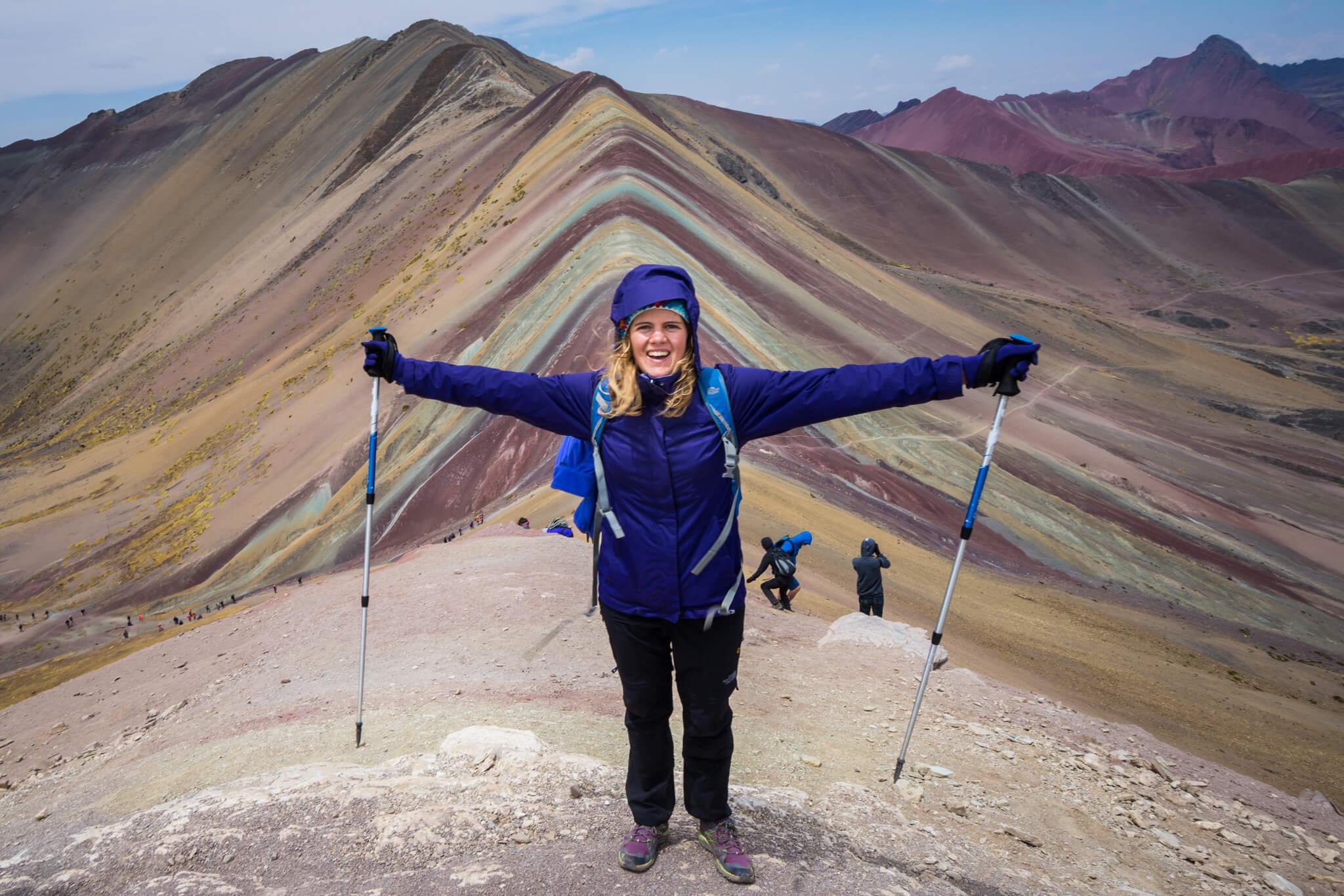 Bénédicte aux Montagnes colorées Pérou