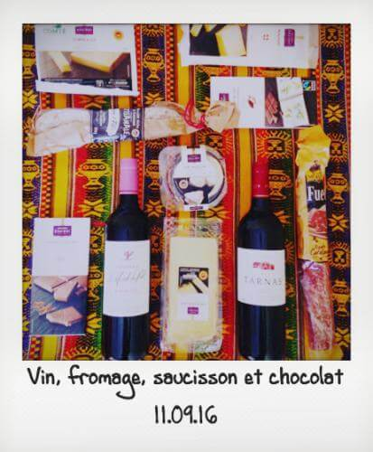 Vin fromage et saucisson from France