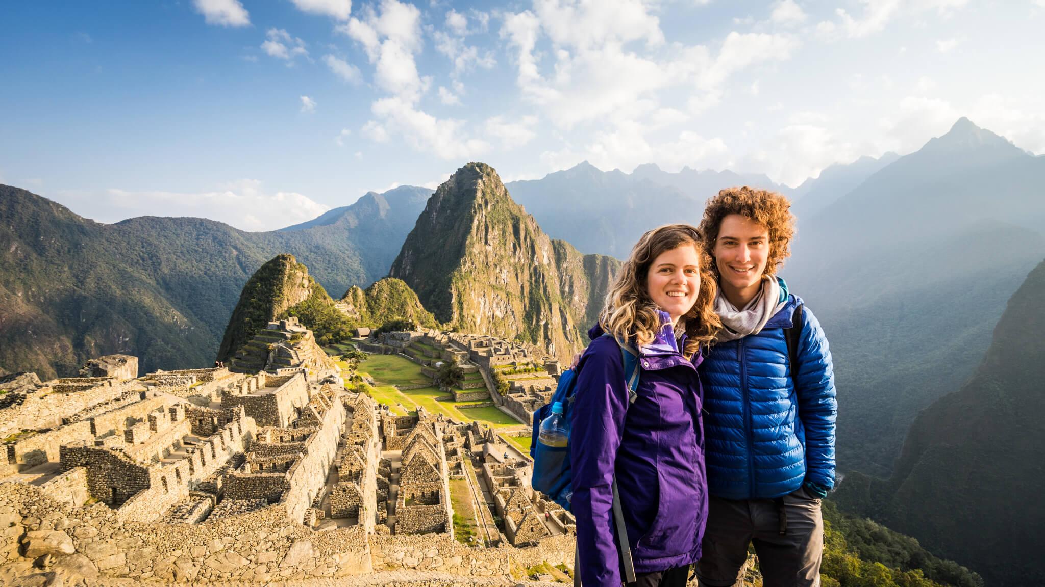 Alexis et Bénédicte au Machu Picchu