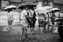 Touriste sous la pluie