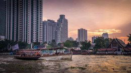 Coucher de soleil bangkok