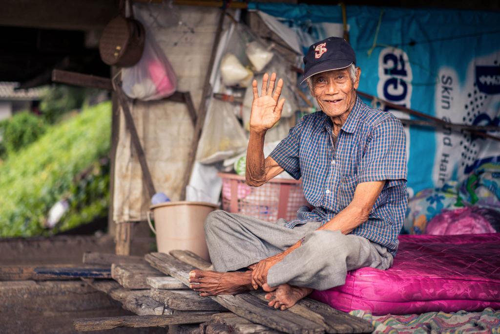 Old men Ayutthaya