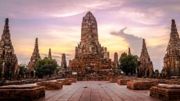 Wat Chai Watthanaram sunset coucher de soleil