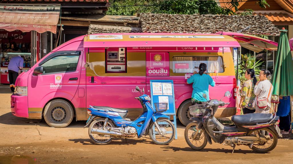 Banque mobile camionette