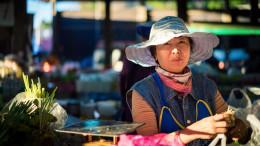 Mae Salong vendeuse marché