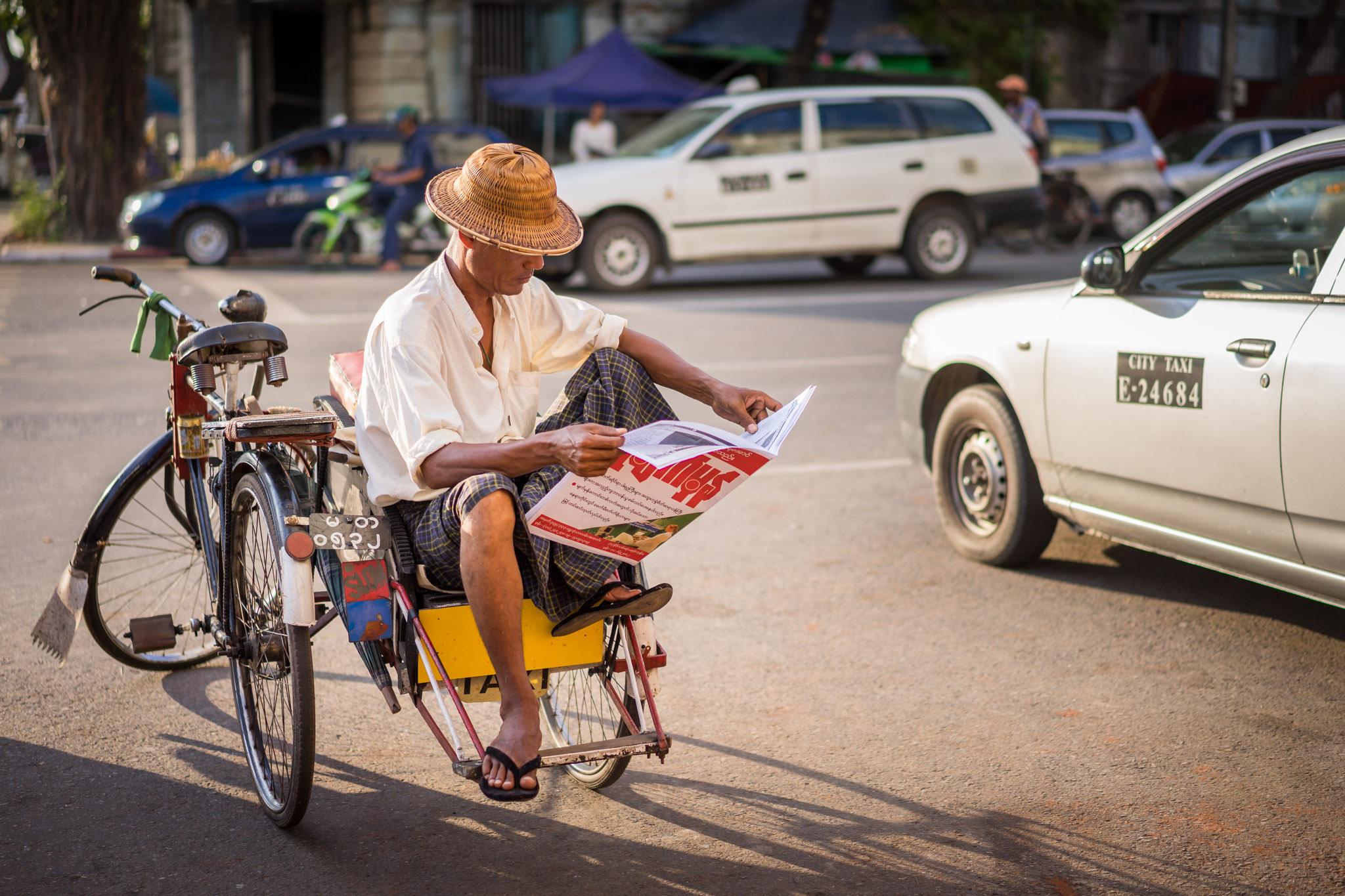 Journal Trishaw Yangon