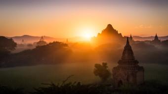 Coucher de soleil Bagan