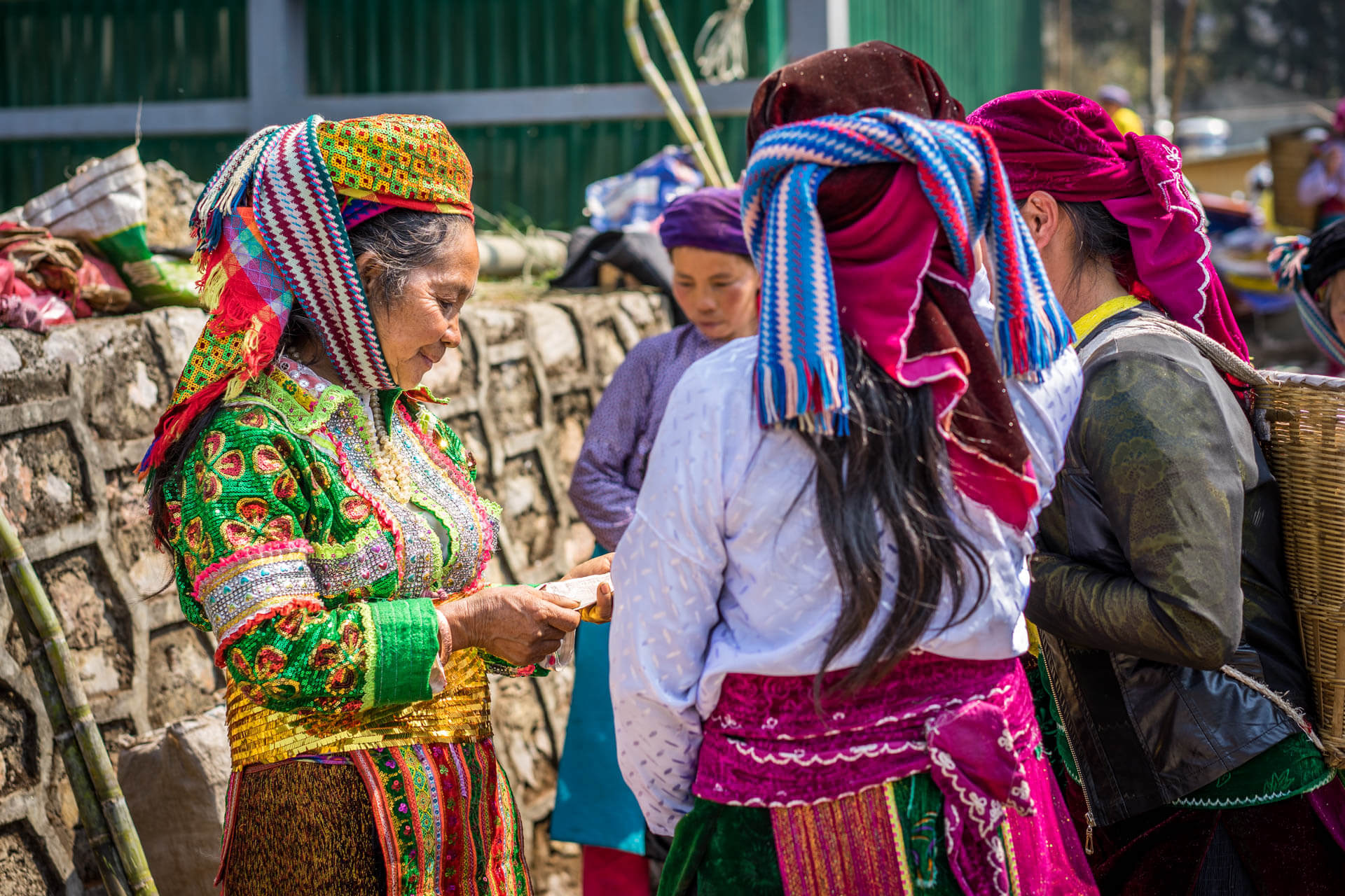 Vietnam marché de Sa Phin
