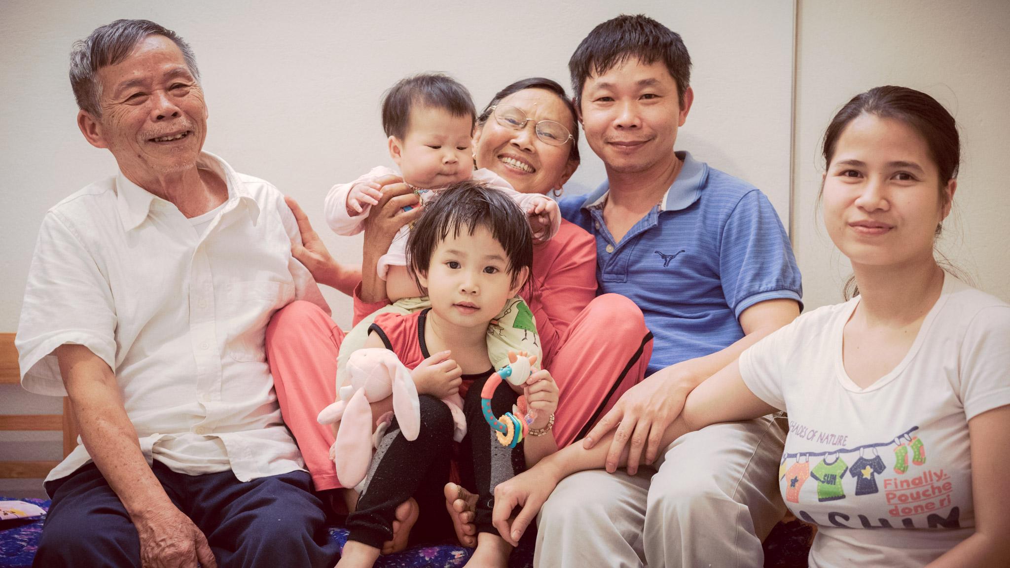Famille de Khanh au Vietnam