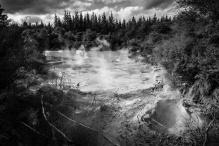 Les incroyables mud pools, Waiotapu