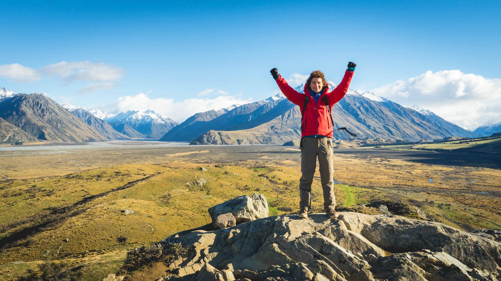Alexis en haut du mont Sunday