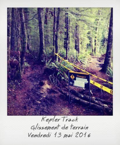 Kepler Track glissement de terrain
