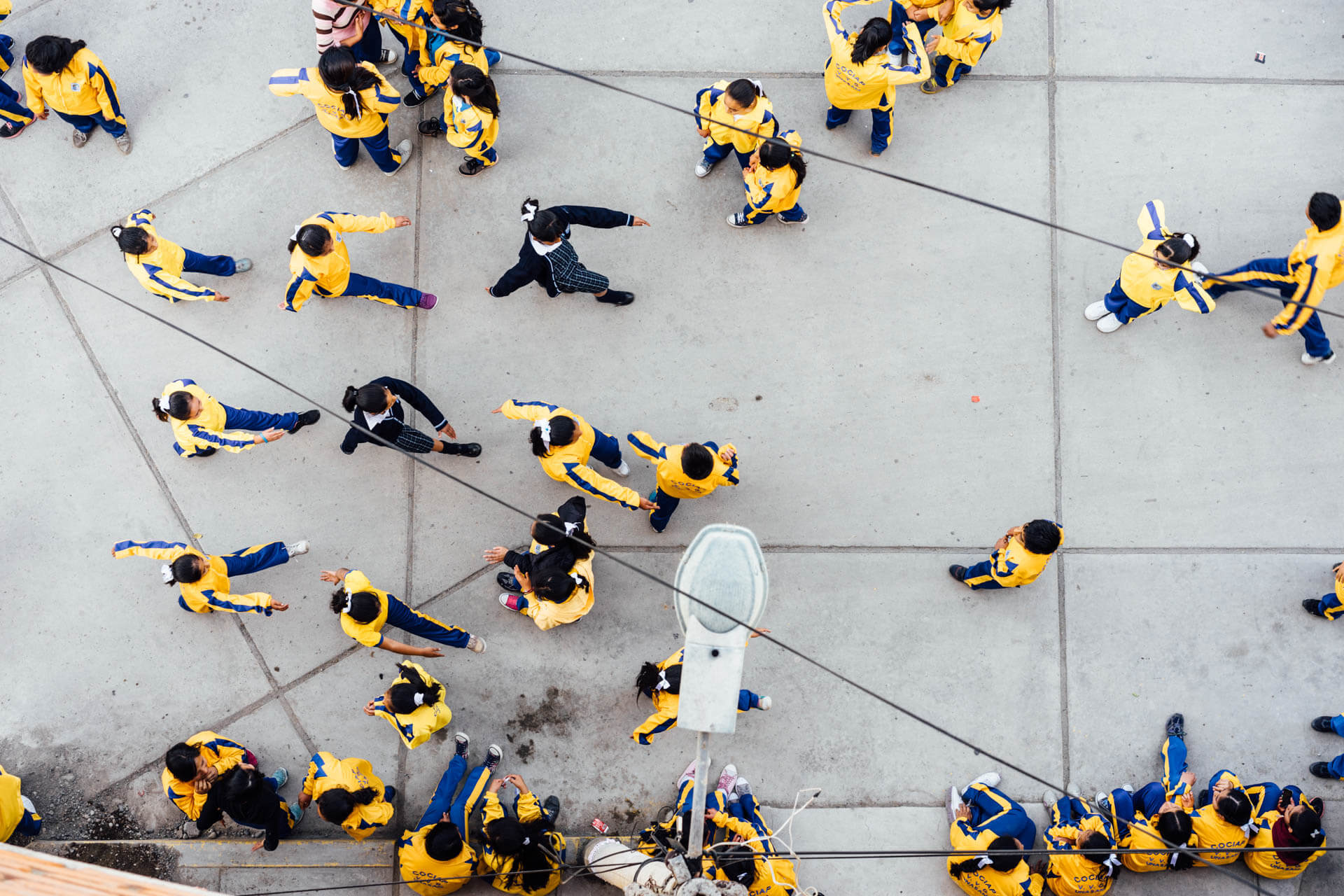 collégiens à Huaraz