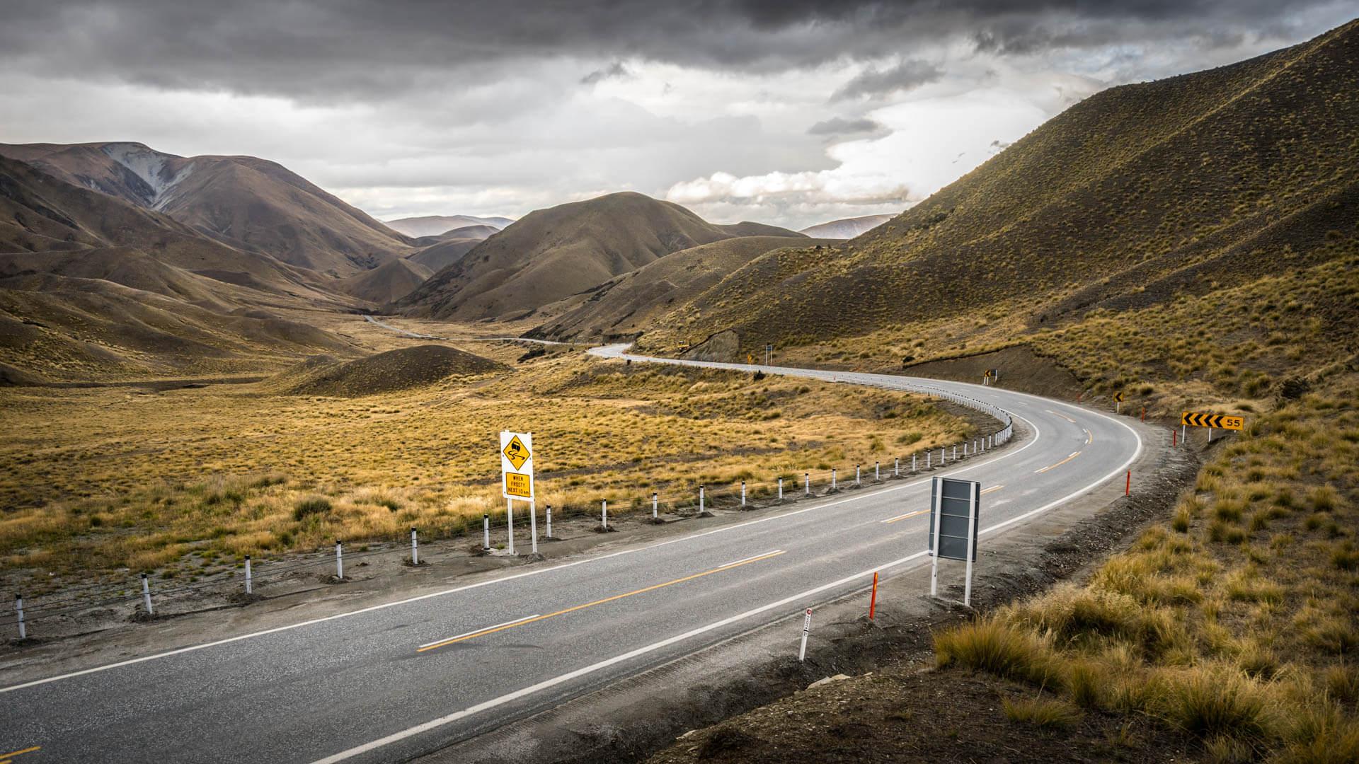 Sur la route du Mont Cook