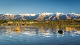Reflets dans le lac Pukaki