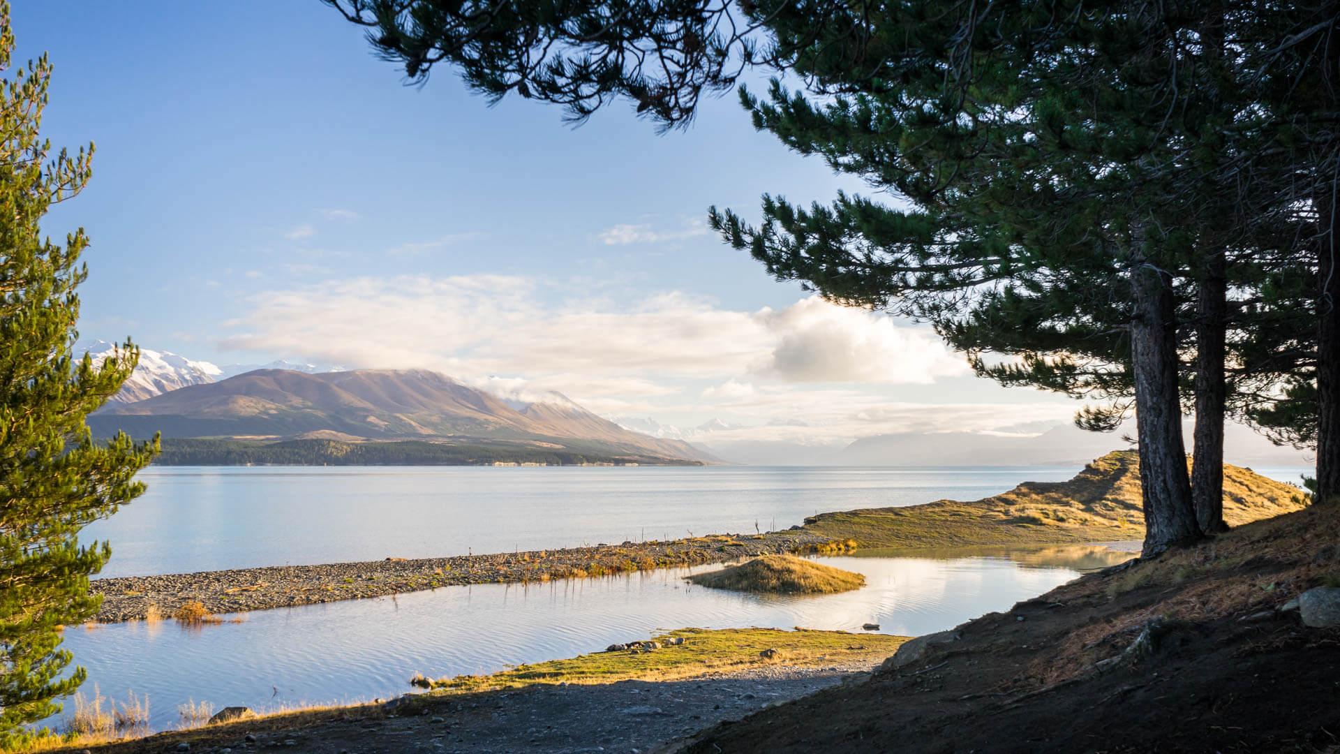 Lac Pukaki au petit matin
