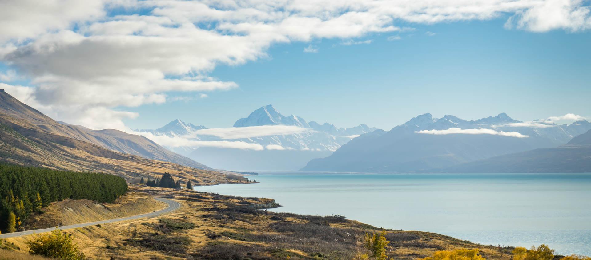 Lac Pukaki et mont Cook